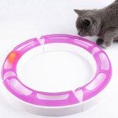 Kedi Oyuncağı Çember Oyun Tüneli Toplu 360 Halka Kedi Oyunu