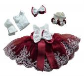 Mevlütlük Elbise Babylia Kız Bebek Lüks Abiye 0 3 3 6 Ay