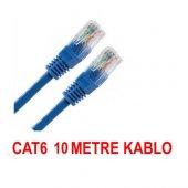 Cat6 Kablosu Ethernet 10 Metre İnternet Modem