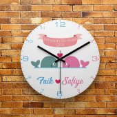 Fmc1388 Sevgiliye Özel Dünyanın En Güzel Çifti Mdf Duvar Saati