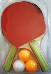 Kaliteli 2li Masa Tenis Raketi 3 Adet Pinpon Topu Hediyeli
