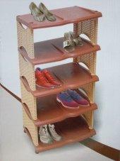 Rattan Ayakkabılık Dekoratif 5 Katlı Ayakkabılık Ayakkabı Dolabı