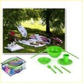 Piknik Sofrası Seti Full Piknik Seti 3 Kişilik 18 Parça