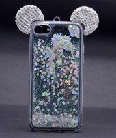 Iphone 6s Plus Mickey Silikon Arka Kapak Beyaz + Ekran Koruyucu T