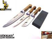Mutfak Bıçak Seti 3' Lü Lazoğlu Sürmene Bilezikli Orijinal El Yapimi