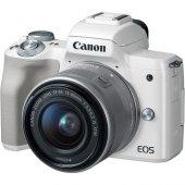 Canon Eos M50 15 45mm Stm Aynasız Fotoğraf Makinesi (Beyaz)