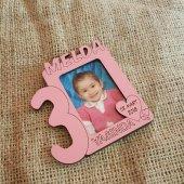 Bebek007 Kişiye Özel Renkli Doğum Günü Yaş Çerçeve...