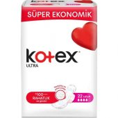 Kotex Ultra Uzun Hijyenik Ped (22 Adet) Süper Ekon...