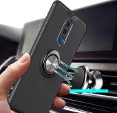 Huawei Mate 10 Lite Kılıf Novel Yüzük Tutuculu Standlı Silikon Kı