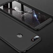 Xiaomi Pocophone F1 Kılıf 3 Parça 360 Soft Hard Koruma Siyah + Na