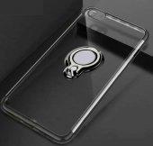 For Samsung Galaxy J7 Prime Kılıf Şeffaf Standlı Yüzüklü Kılıf Si