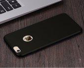 Iphone 6 Plus Kılıf Slim Fit Mat Silikon Elma Logosu Açık