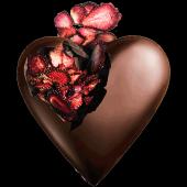 Kalpli Çilekli Çikolata