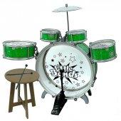 Jazz Drum Ahşap Tabureli Bateri Seti