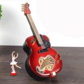 Büyük Boy Gitar Balerinli Müzik Kutusu İç Takı Bölmeli Müzik Box