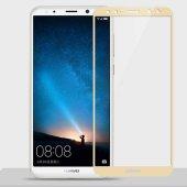 Huawei Mate 10 Lite Tam Kapatan Kavisli Cam Altın