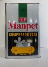 Manpet Vidalı Kompresor Yağı Iso 100 14 Kg