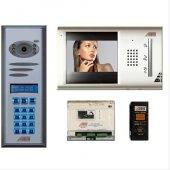 Audıo Görüntülü Diafon Sistemi 5 Daireli Bina Set