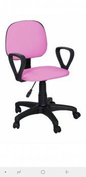 Sekreter Koltuğu Ofis Sandalyesi Bilgisayar Koltuğu Pembe