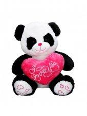 Peluş Panda Oturan Kalpli 50 Cm