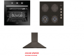 Simfer Oscar Siyah Ankastre Set (8055+3608 +5663)