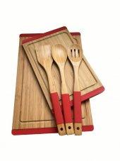 Neva N2325 Sweet Bambu Kırmızı Mutfak Seti