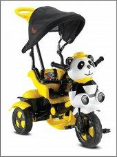 Babyhope 127 Little Panda Üçteker Bisiklet Oyuncak Sepetli Müzikli Sari