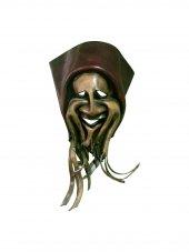 Dekoratif El İşçiliği Duvar Mask Gerçek Deri Duvar Maske