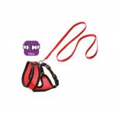 Karlie Kedi Tasma+uzatma 38cm Kirmizi Siyah