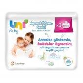 Uni Baby Oyna Öğren Yeni Doğan Islak Pamuk Mendil 3lü