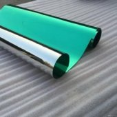 Aynalı Görünüm Yeşil Cam Filmi Çizilmez 100 X 100 Cm