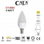 Cata 8 Watt Mum Buji Beyaz Işık Ve Gün Işığı Led Ampül Ct 4083