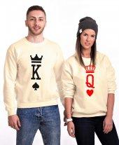 Tshirthane K Q King Queen Sevgili Kombinleri Sweatshirt
