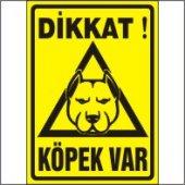 Dikkat Köpek Var Uyarı Levhası (Pitbull) 25x35 Cm Dekota