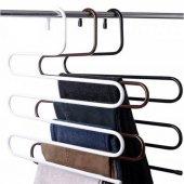 Dolap İçi Pantolon Askısı Metal 5 Katlı Eşarp Etek Askısı Askılık