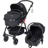 Kanz Kz4010 Cameron Travel Bebek Arabası Siyah