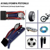 Lastik Pompası Ayak Pompası Bisiklet Motosiklet To...