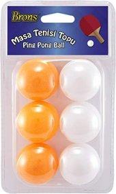 Renkli Pinpon Topu 6 Adet Masa Tenisi Topu