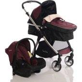 Pierre Cardin Trendy Travel Sistem Bebek Arabası Bordo