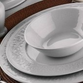 Kütahya Porselen Açelya 83 Parça 12 Kişilik Yemek Takımı
