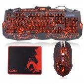 Ozo Red Dragon S900 Gaming Işıklı Klavye,mouse & O...