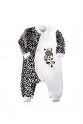 Uzun Kollu Inek Baskılı Bebek Kıyafeti Bebek Tulumu