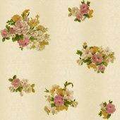 Truva 8603 1 Çiçek Desenli Duvar Kağıdı