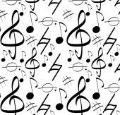 Pop Art 512055 Müzik Notaları Desen Duvar Kağıdı