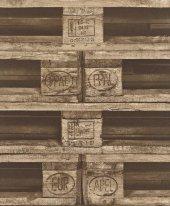 Crispy Paper 524116 Ahşap Palet Görünümlü Duvar Kağıdı