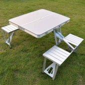 Alüminyum Katlanır Kamp Masası Kamp Sandalyesi Set Çantalı