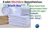 8 Adet Otel Banyo Havlusu 90x150cm 100 Pamuklu Otel Havlusu