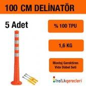 Esnek Şerit Ayırıcı Delinatör 100 Cm (5 Adet)
