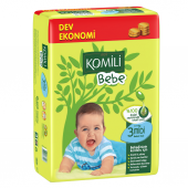Komili Bebe Dev Ekonomi Midi No 3 Bebek Bezi 54 Adet