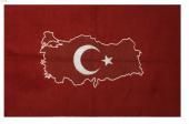 Siirt Tiftik El Dokuma Türk Bayrağı Ve Türkiye Haritalı